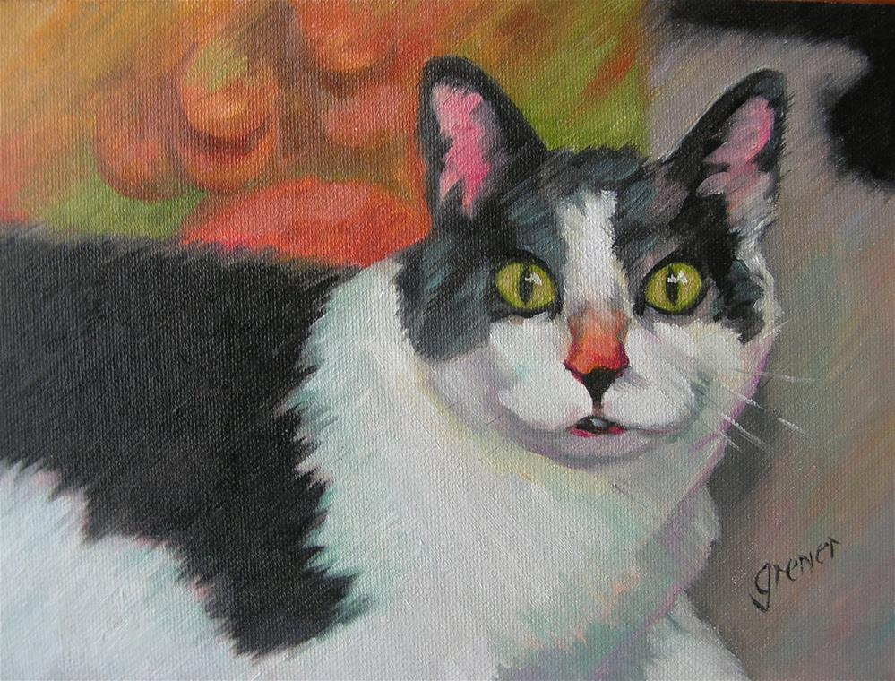 """Casey the Cat"" original fine art by jean grenier"