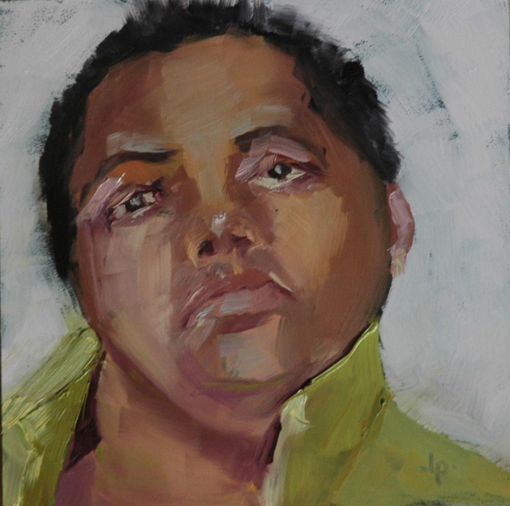 """""""FACE No. 40"""" original fine art by Linda Popple"""