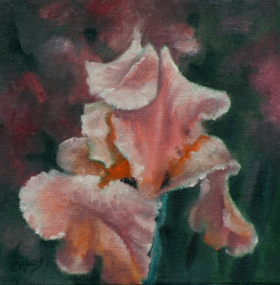 """Pink Iris"" original fine art by Linda Eades Blackburn"