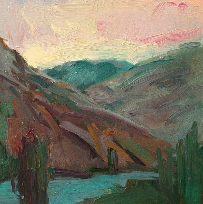 Patterson Lake original fine art by Kathryn Townsend