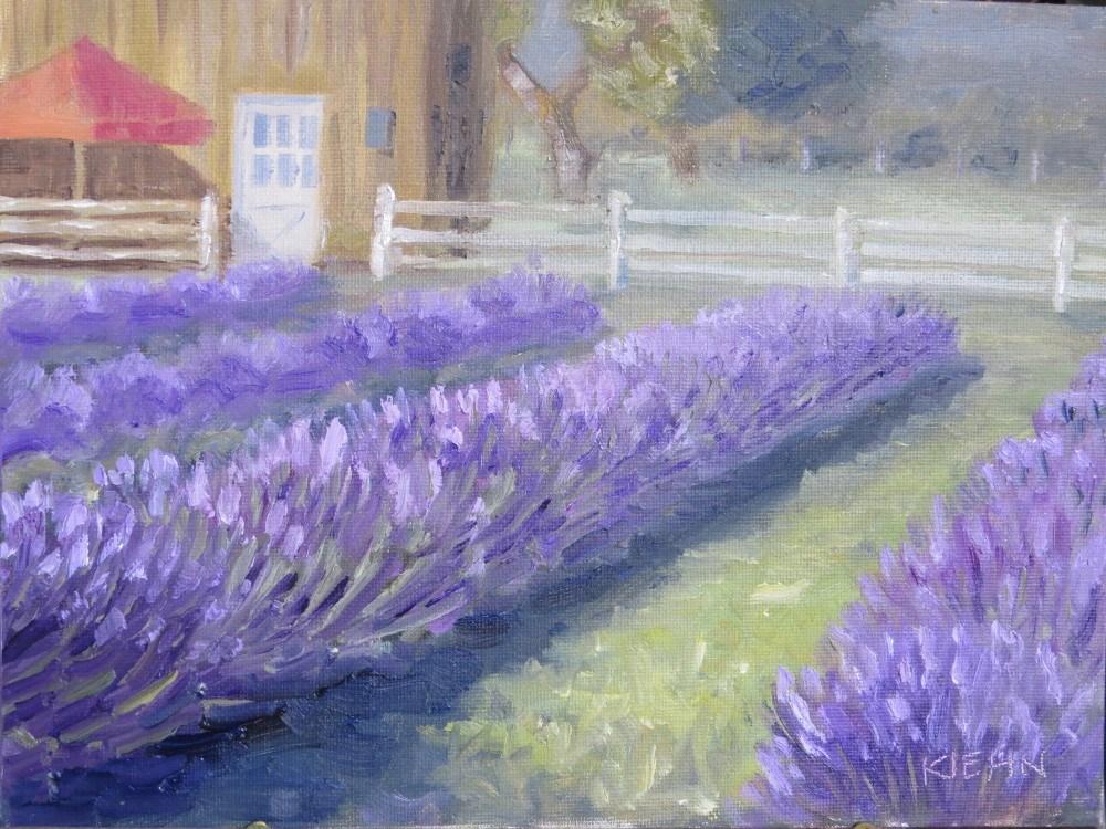 """Lavender Fields Forever"" original fine art by Richard Kiehn"
