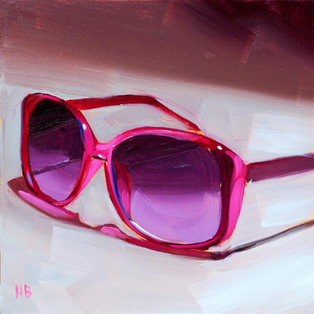 """Hot Pink Shades"" original fine art by Heather Bullach"