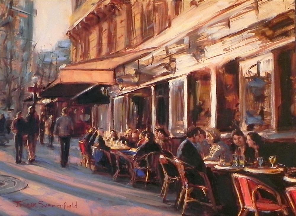 """""""Cafe in Montmartre"""" original fine art by Jonelle Summerfield"""