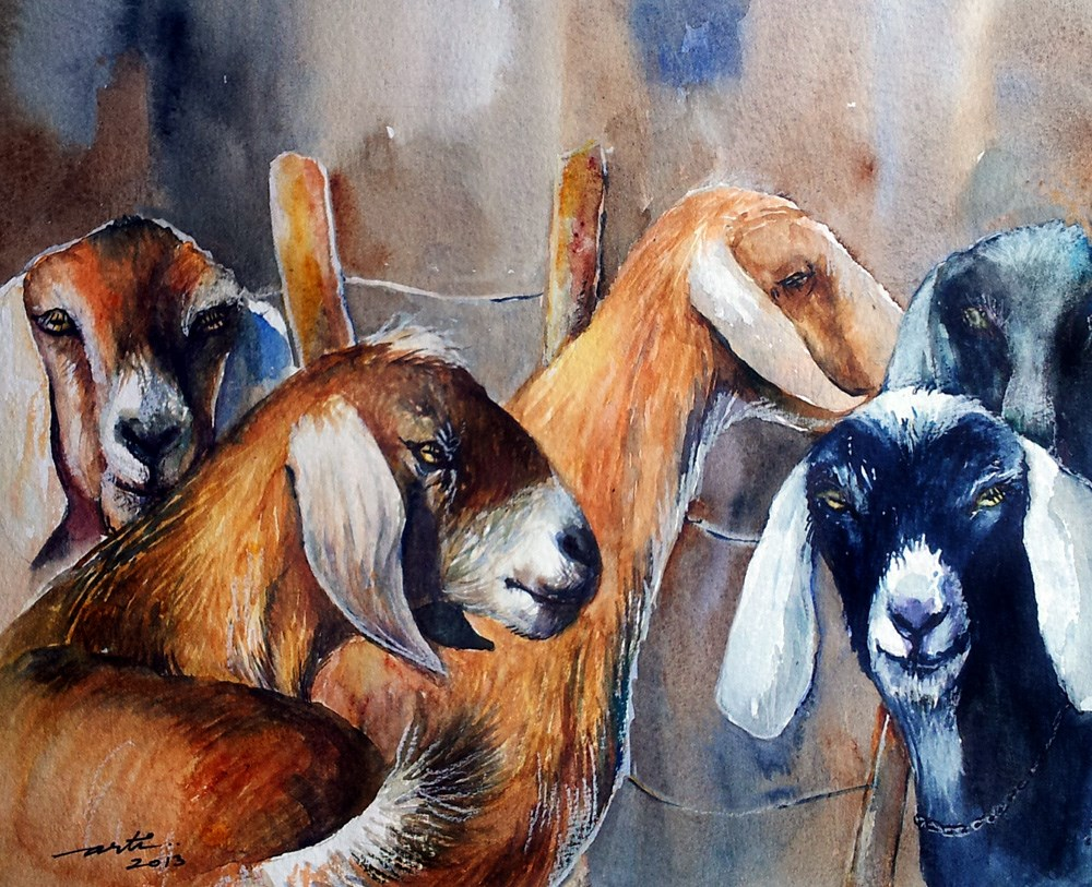 """The Gathering"" original fine art by Arti Chauhan"