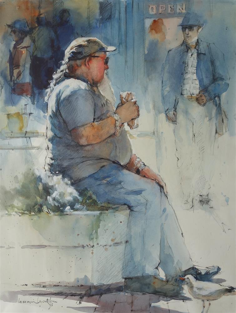 """Two for Lunch"" original fine art by Lorraine Lewitzka"