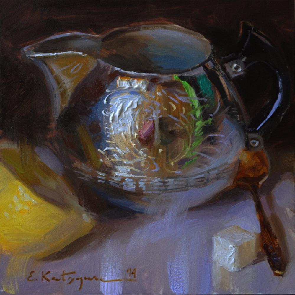 """Silver, Lemon and Sugar"" original fine art by Elena Katsyura"