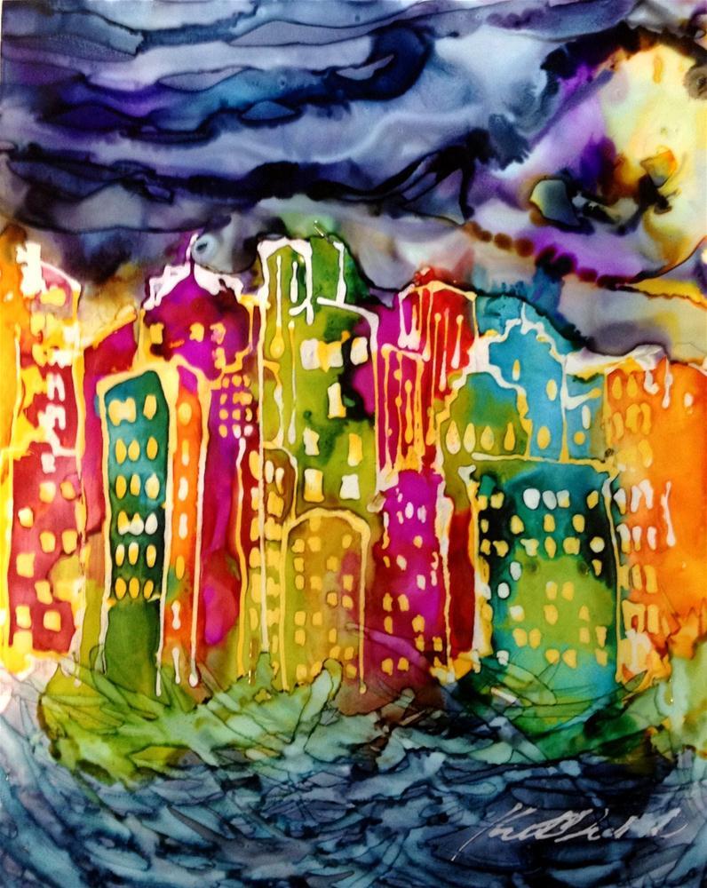"""""""City2"""" original fine art by Kristen Dukat"""