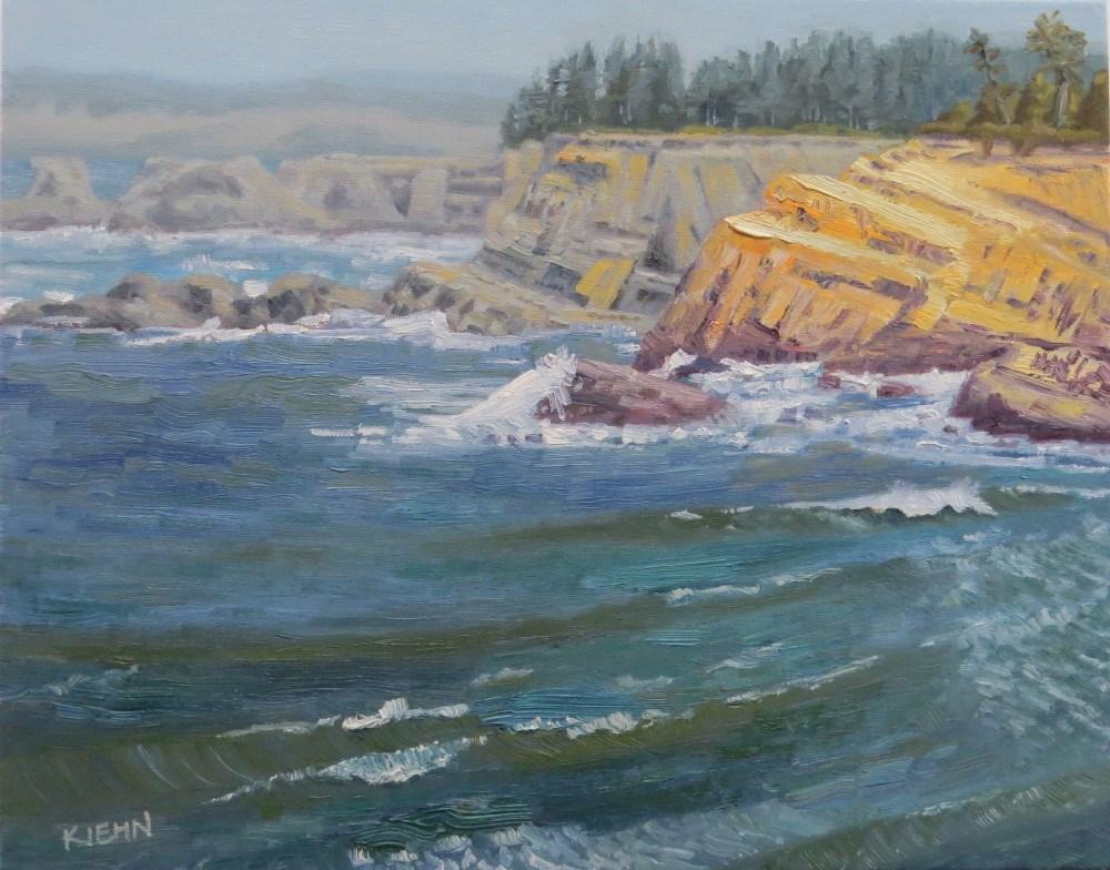 """Cape Arago, Oregon"" original fine art by Richard Kiehn"