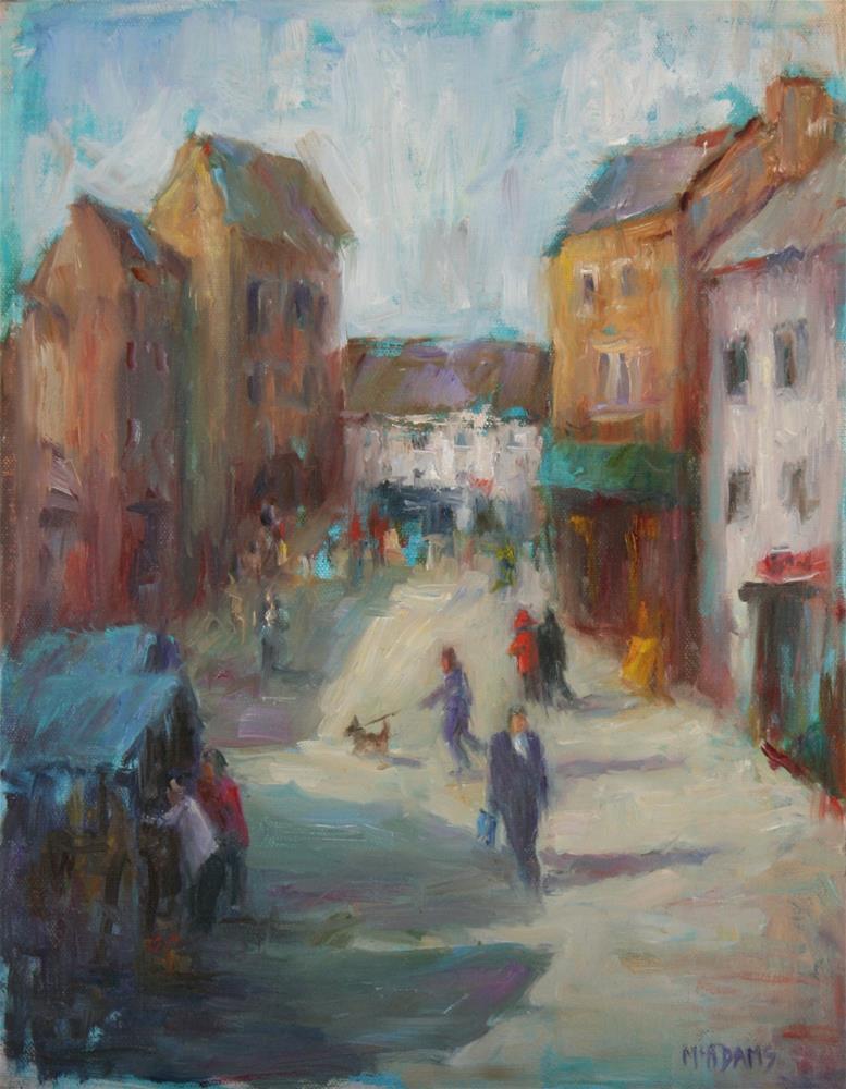 """Market Street"" original fine art by Phyllis McAdams"