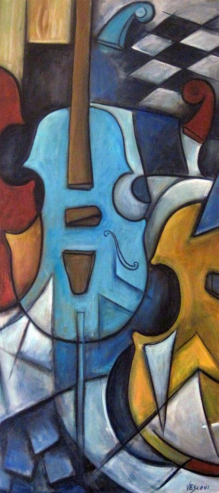 """Musique 1"" original fine art by Valerie Vescovi"