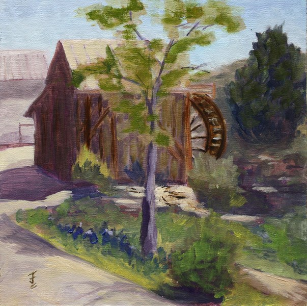 """Anderson Mill"" original fine art by Jane Frederick"