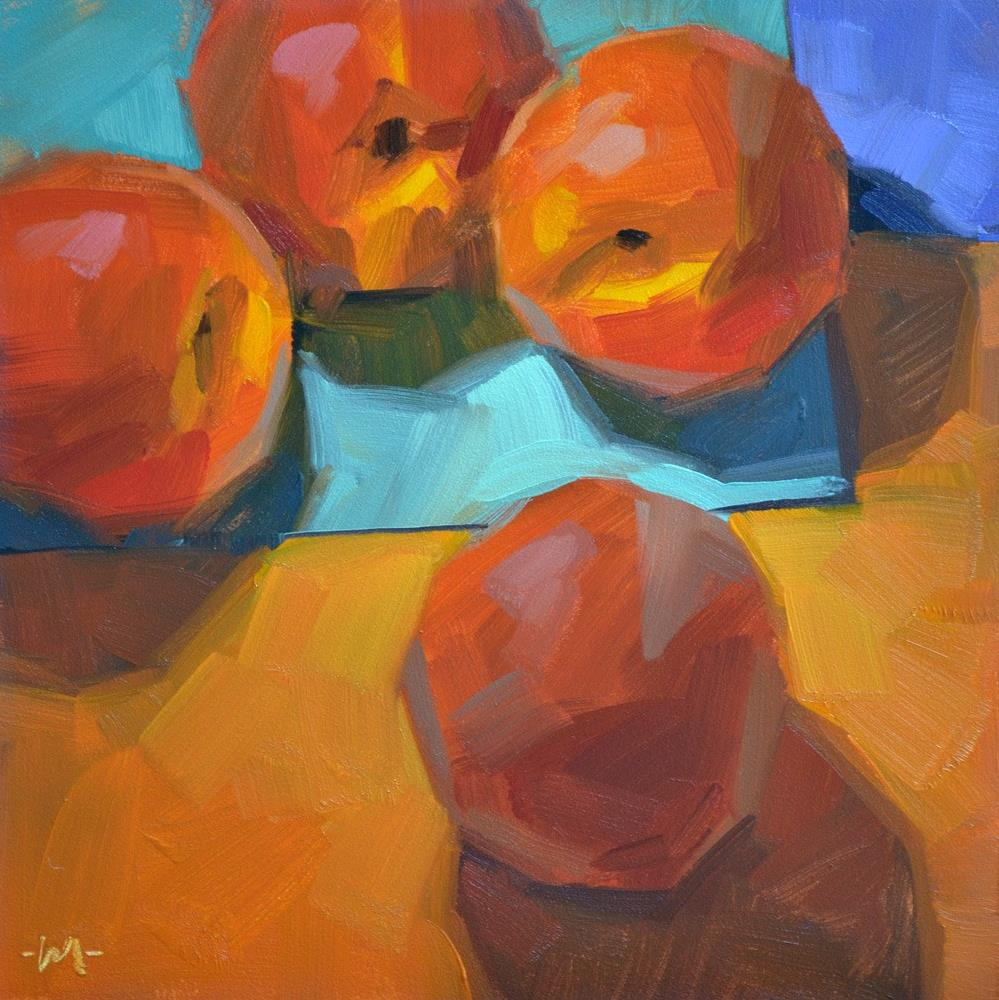"""Peach Intervention"" original fine art by Carol Marine"