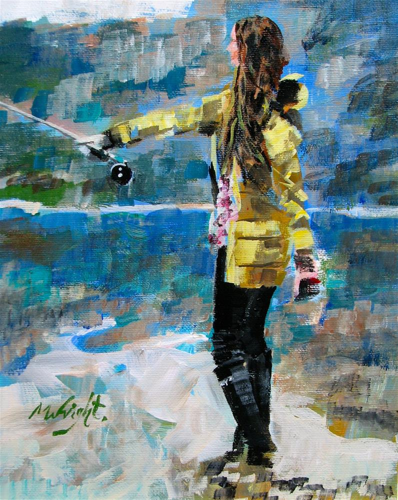 """""""Fly Girl"""" original fine art by Molly Wright"""