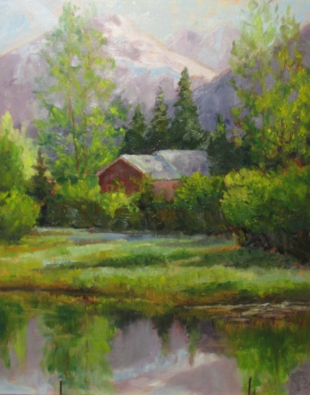 """Mendenhall Views"" original fine art by Christine Lewis"