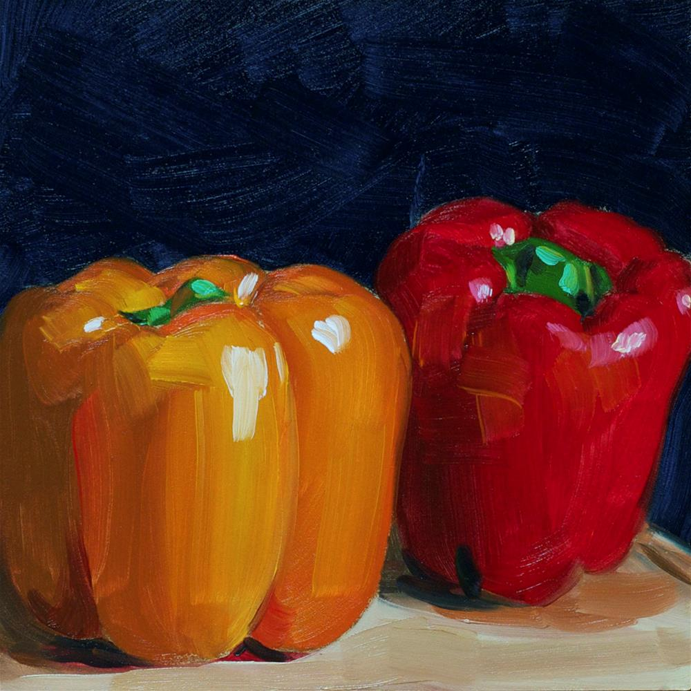 """Peppers #2"" original fine art by Heather Bullach"