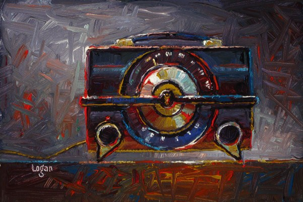 """Zenith R615-Y Radio"" original fine art by Raymond Logan"