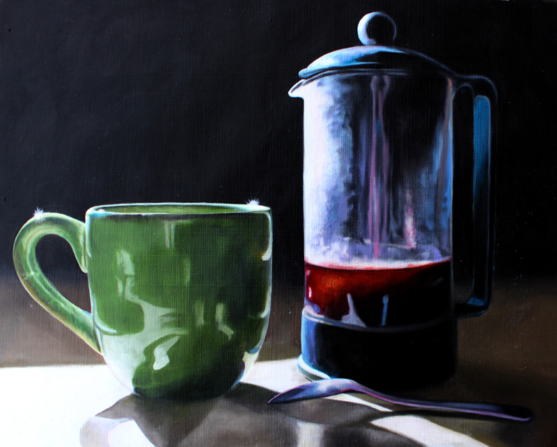 """French Press Coffee"" original fine art by Lauren Pretorius"