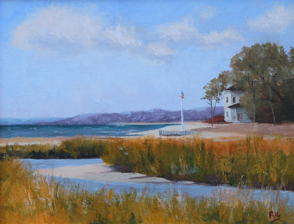 """Peconic Summer"" original fine art by Maria Reed"
