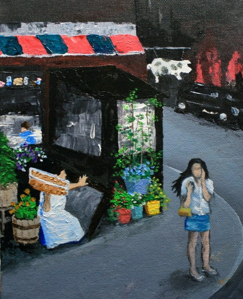 """The Conversation"" original fine art by Jean Nelson"