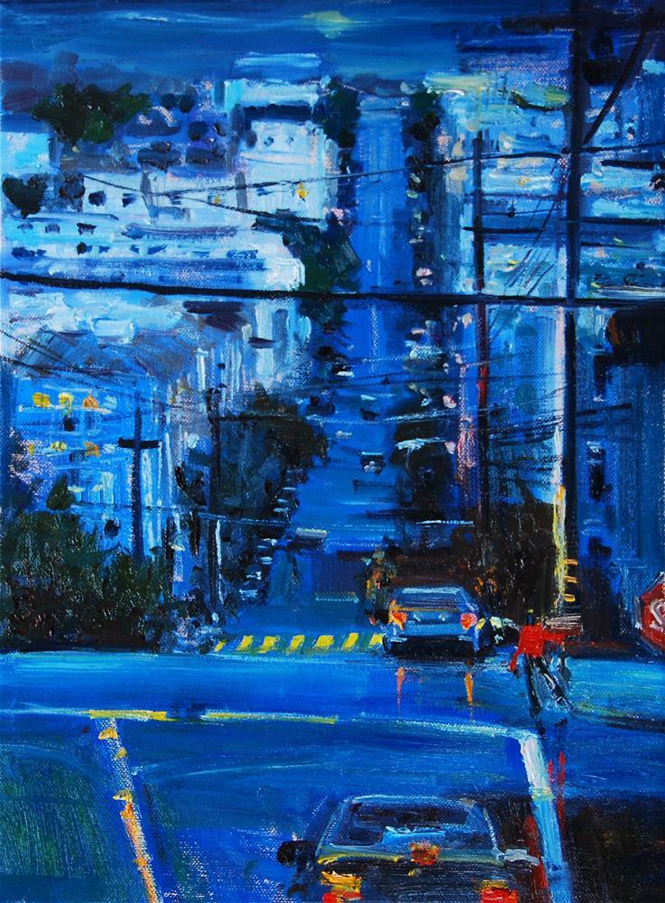 """San Fransisco Blues"" original fine art by Adebanji Alade"