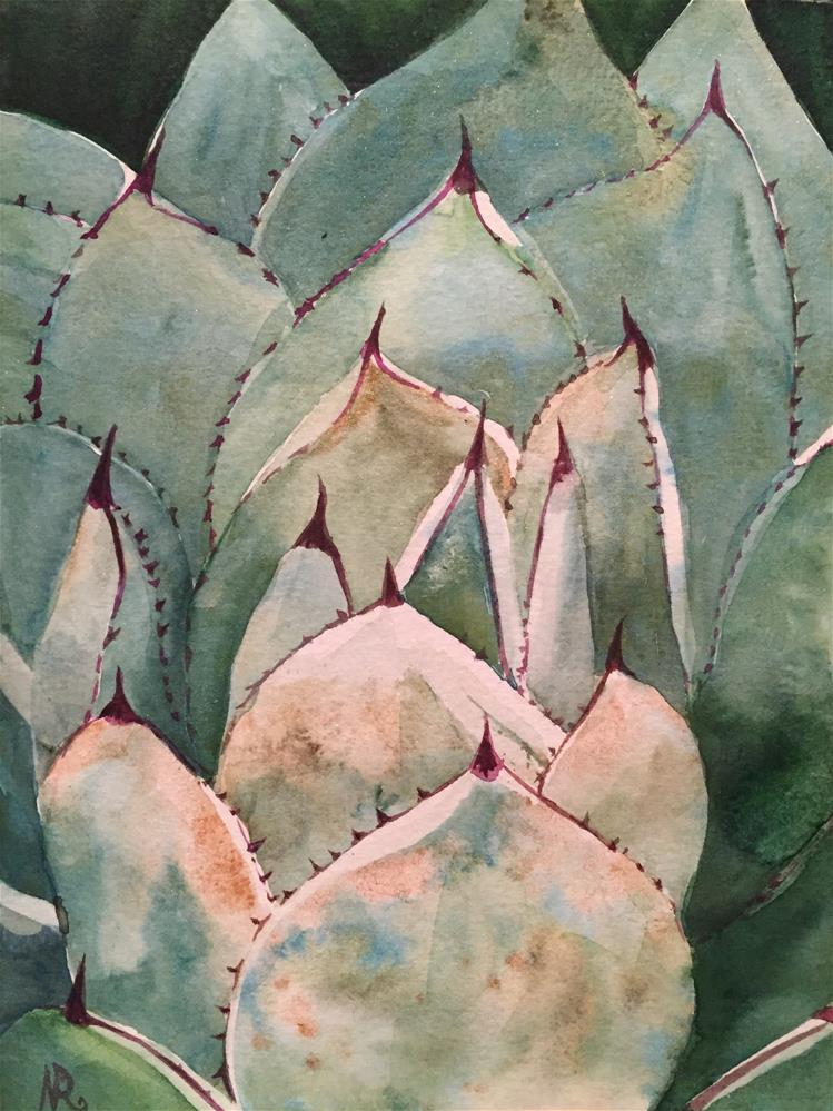 """Agave"" original fine art by Natasha Ramras"