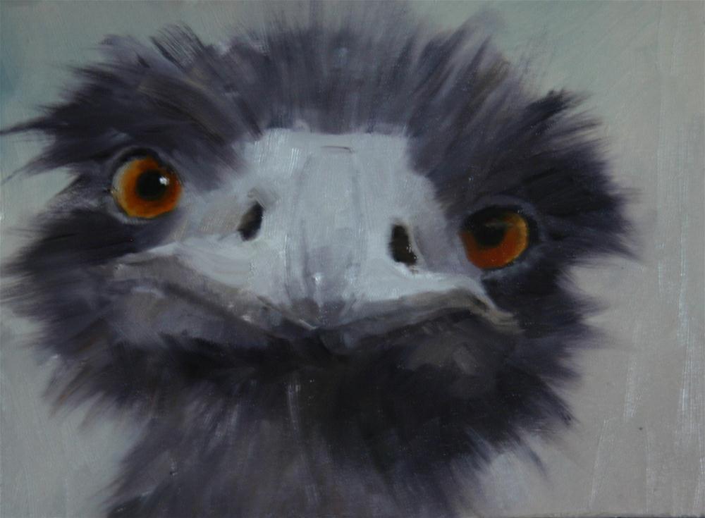 """Funny face"" original fine art by Liz Balkwill"