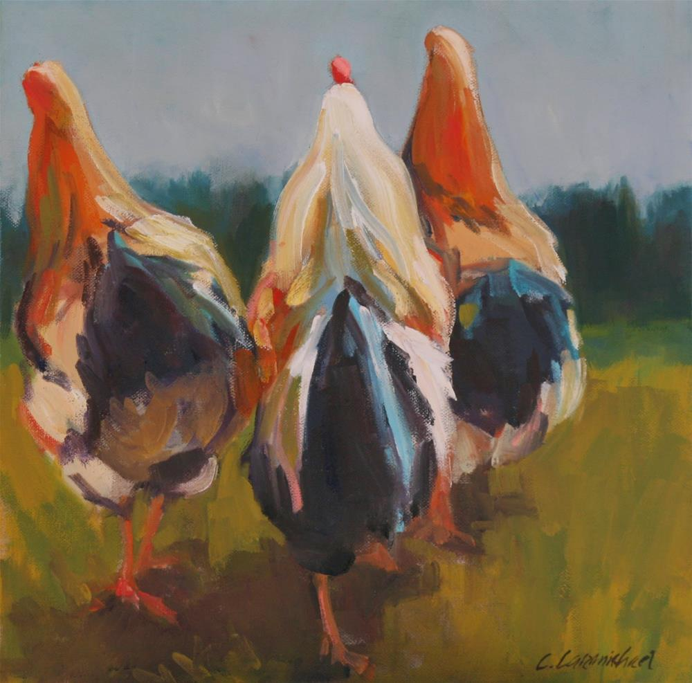"""Me, and my girls III"" original fine art by Carol Carmichael"