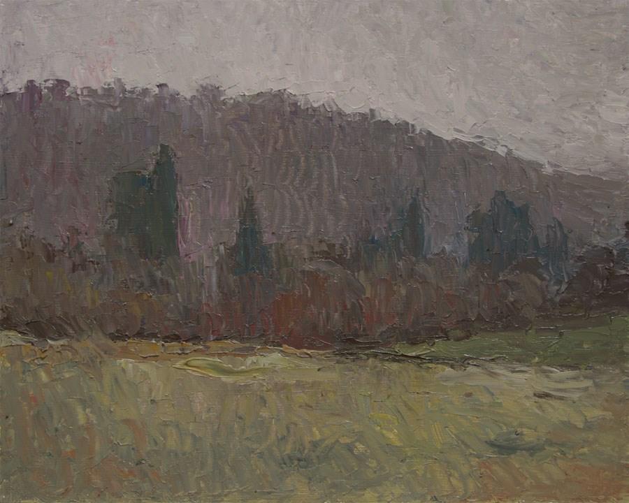 """""""December Trees"""" original fine art by Jethro Knight"""