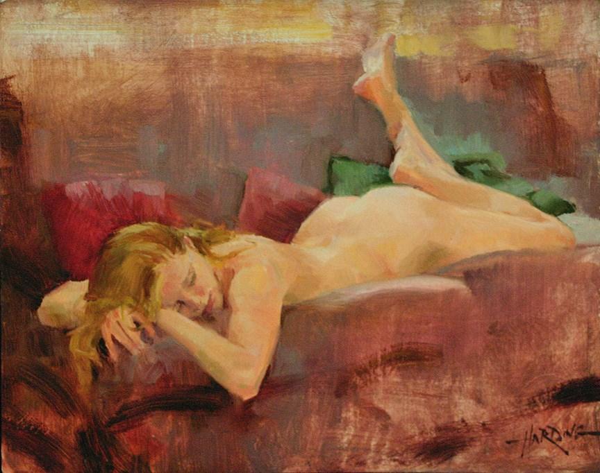 """""""A Quick Nap"""" original fine art by Scott Harding"""
