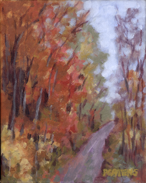 """Greenbrier River Trail"" original fine art by Pamela Gatens"