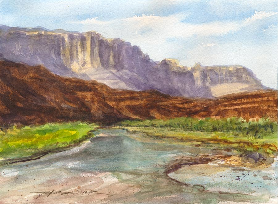 """Southern Utah Wash"" original fine art by Rafael DeSoto Jr."