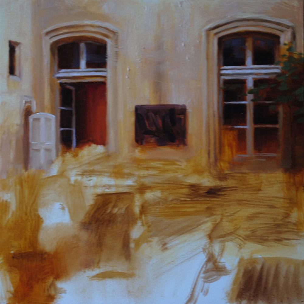 """Courtyard in Progress"" original fine art by Elena Katsyura"