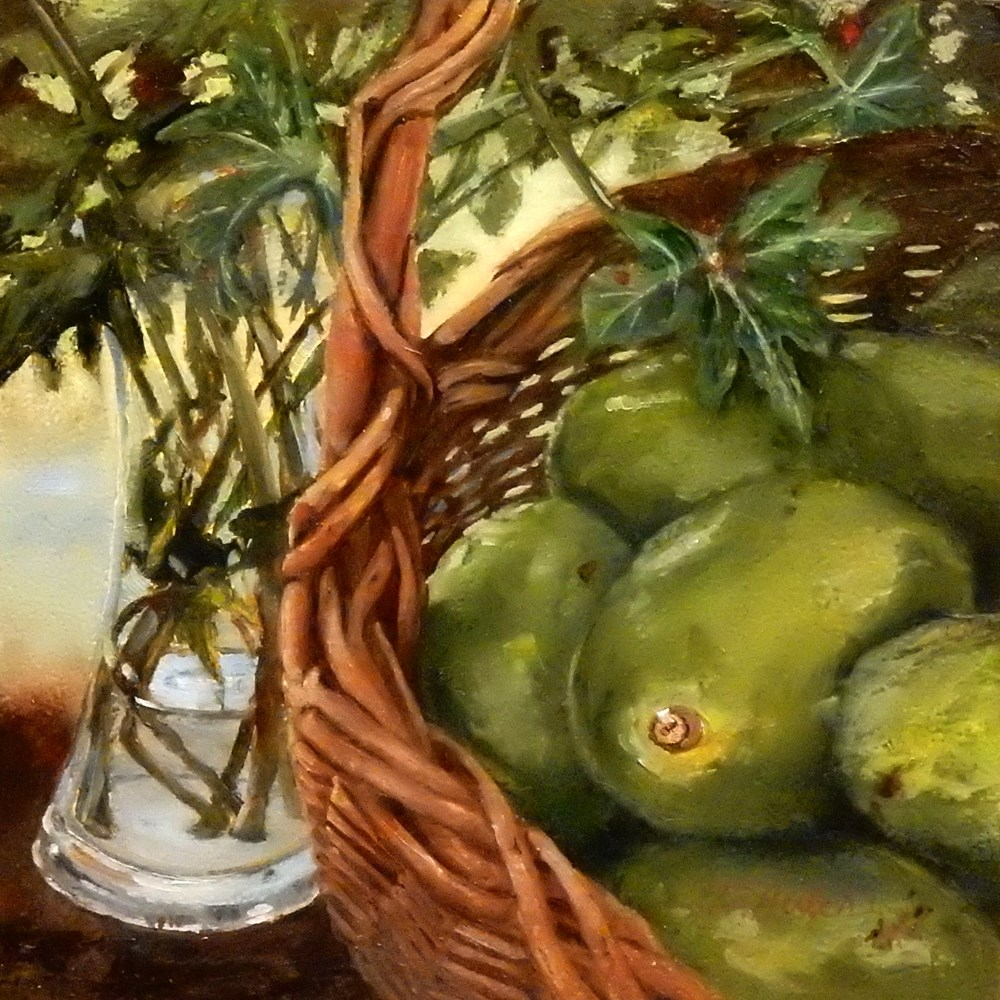 """Avocados "" original fine art by Diane Hutchinson"