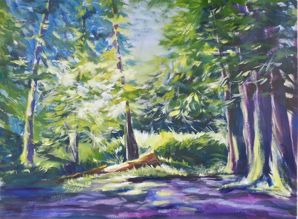 """Lost Lake"" original fine art by Becky Chappell"