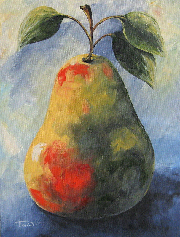 """August Pear "" original fine art by Torrie Smiley"