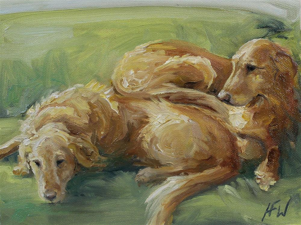 """The Sunny End of the Couch"" original fine art by H.F. Wallen"