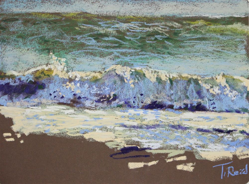 """Shore Waves #7"" original fine art by Toby Reid"