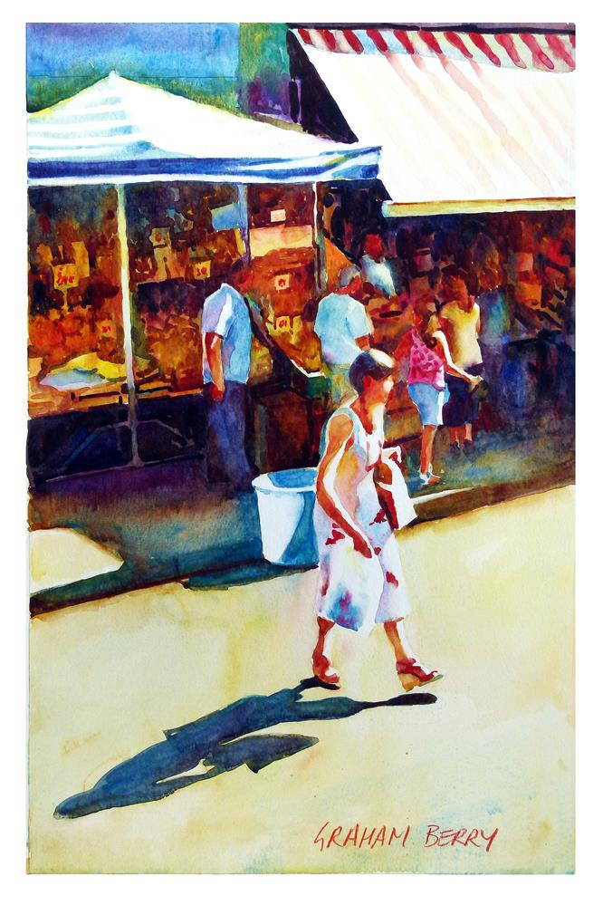 """Market shopper."" original fine art by Graham Berry"