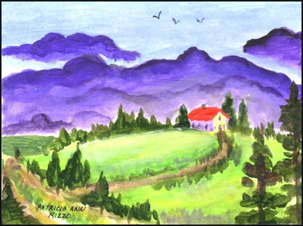 """Storm Coming"" original fine art by Patricia Ann Rizzo"