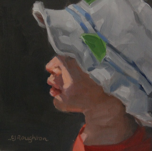 """Max And His Fishing Hat"" original fine art by C J Roughton"