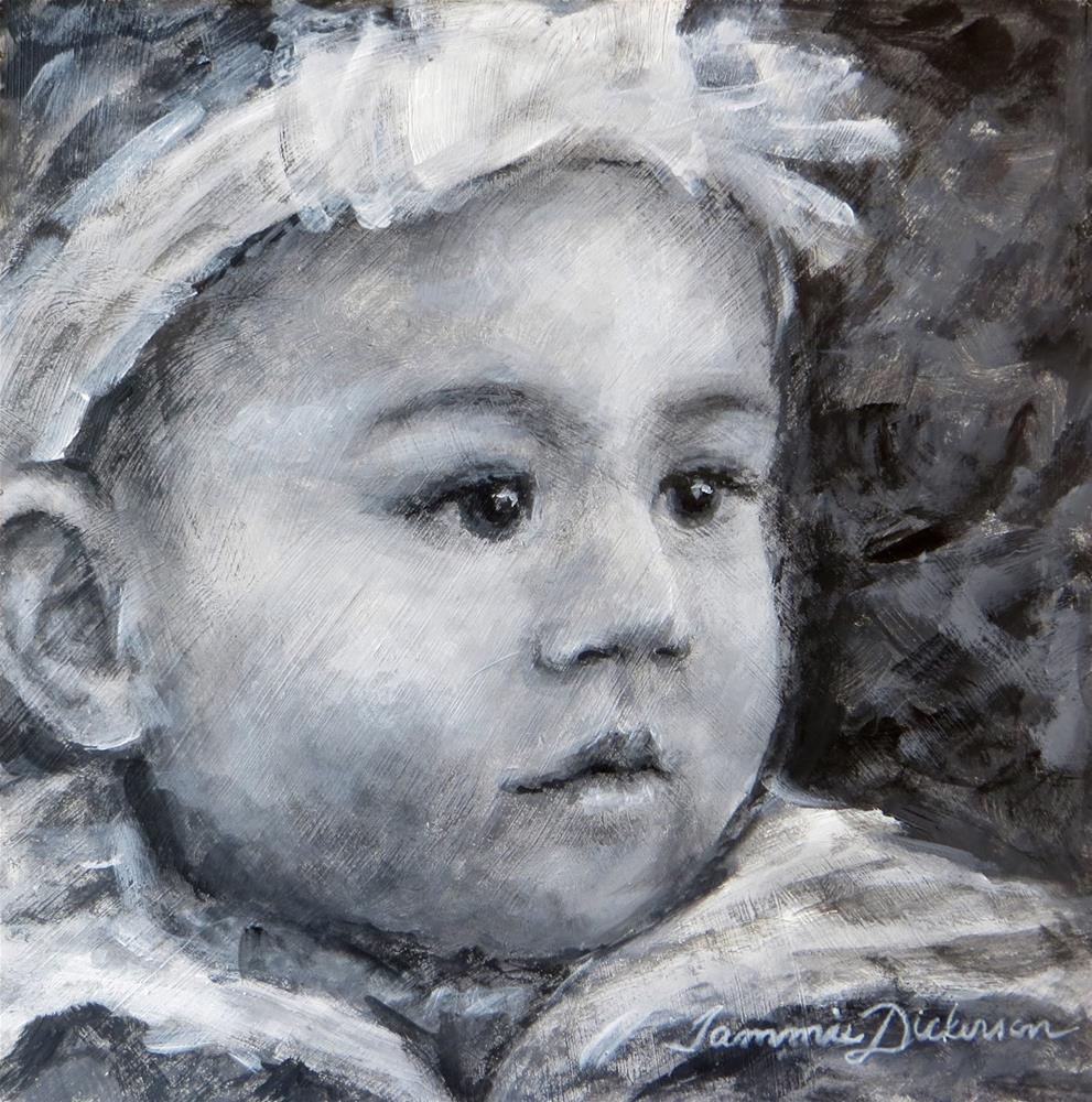 """The White Bow"" original fine art by Tammie Dickerson"