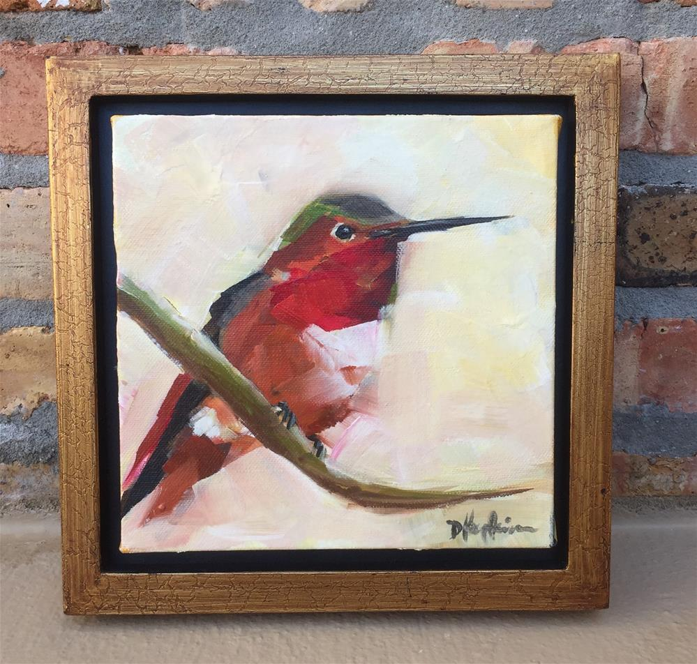 """Humming, Framed"" original fine art by Denise Hopkins"