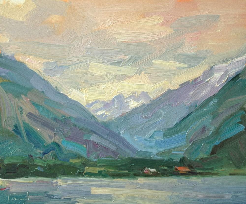"""""""Gray Day Stehekin"""" original fine art by Kathryn Townsend"""