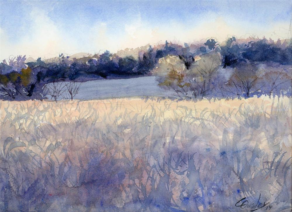 """December Morning Frost"" original fine art by Chris Ousley"