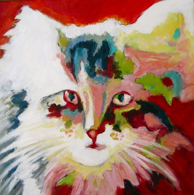 """Diva Kitty"" original fine art by Patricia MacDonald"