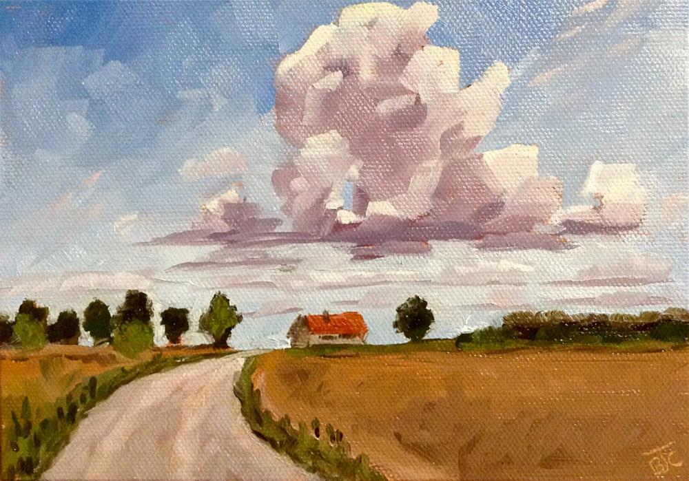 """Chasing Clouds"" original fine art by Bobbie Cook"