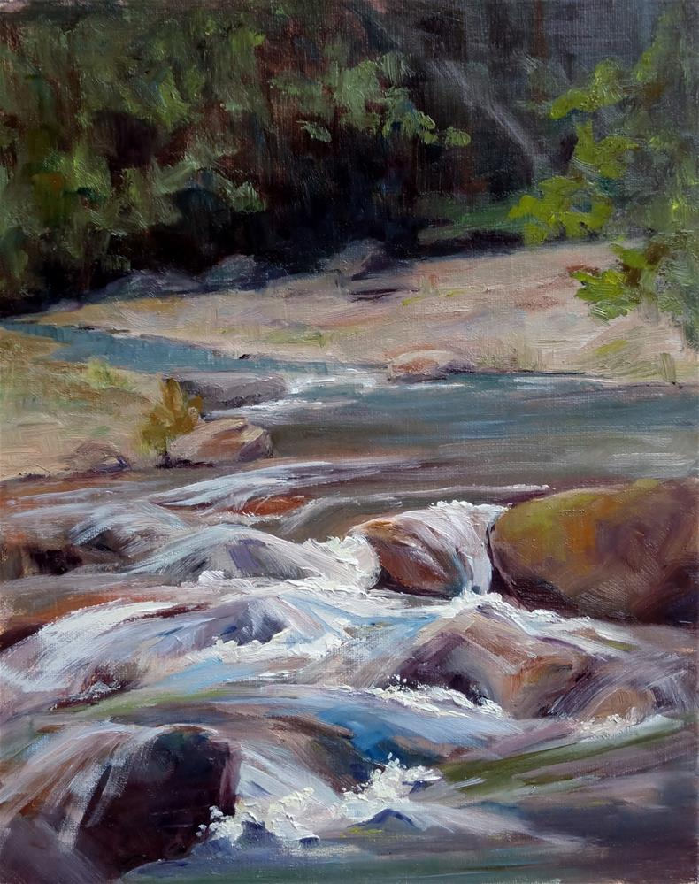 """Cool River"" original fine art by Sheila Marie"