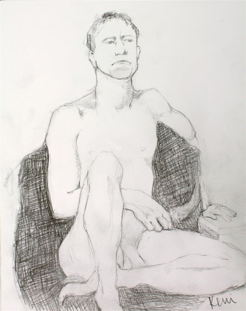 """Nude Male Figure Drawing"" original fine art by Kerri Blackman"