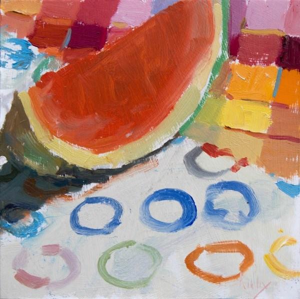 """Slice of Watermelon"" original fine art by Randall Cogburn"