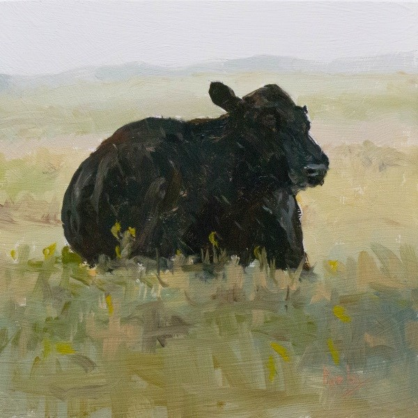 """Pelted by Rain"" original fine art by Randall Cogburn"